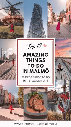 Top Things to do In Malmö, Sweden. Visit Malmo next to Copenhagen - Travel Voyage Suede, Stuff To Do, Things To Do, Parks, Harbor City, Backpacking Europe, Travelling Europe, Traveling, Sweden Travel