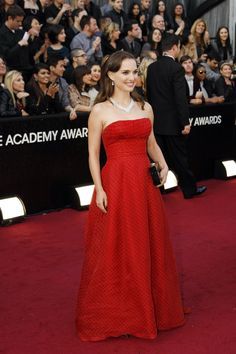 Natalie Portman in vintage Dior at the 84th Annual Academy Awards.