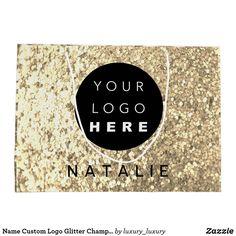 Name Custom Logo Glitter Champagne Gold Large Gift Bag Glitter Home Decor, Custom Gift Bags, Large Gift Bags, Custom Logos, Champagne, Birthdays, Names, Holiday, Gold