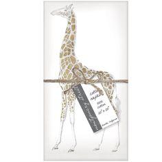 Montgomery Street Giraffe Cotton Napkins, Set of 4