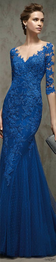Graceful Dot Tulle & Tulle V-neck Neckline Mermaid Evening Dresses with Lace Appliques Elegant Dresses, Pretty Dresses, Blue Dresses, Prom Dresses, Formal Dresses, Mermaid Evening Dresses, Evening Gowns, Lace Dress, Dress Up