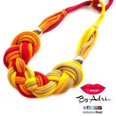 #trapillo en colores cálidos rojo + naranja + amarillo