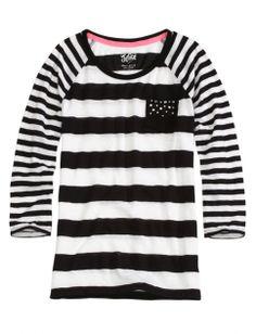 Striped Pocket Tee | Girls Tee-rific Basics New Arrivals | Shop Justice