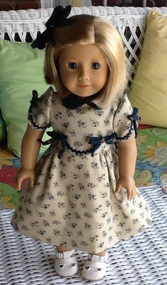 1930s Frock fits American Girl dolls Kit Or Ruthie. by ASewSewShop, $25.00