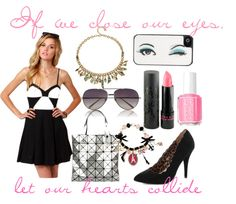 if we close our eyes, let our hearts collide by delrain featuring a kate spade iphone caseBB Dakota clothing / Rose Pierre lobster claw charm / Betsey Johnson beaded stretch bracelet / Linda Farrow gold aviator, $700 / Kate Spade  iphone case / Jemma Kidd lip stick, $13 / Essie nail polish, $17