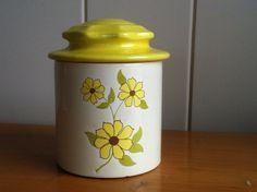 Holiday Designs canister by FlorabundaVintage on Etsy