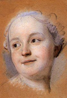 It's About Time: Simple pastel portrait studies by French artist Maurice Quentin de La Tour