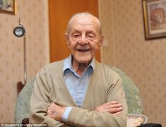 Still on the go: Great great grandfather Ralph Tarrant from Sheffield is now Britain's oldest man aged 109