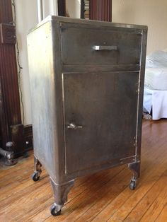 Antique metal medical cart. 1930s\1940s I think. It's in good ...