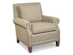 Shop for Fairfield Chair Company Lounge Chair, 2790-01, and other Living Room Chairs at High Country Furniture & Design in Waynesville, NC - North Carolina. Shown with optional brass nail-head trim.