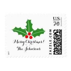 Personalized 71 cent Merry Christmas stamps