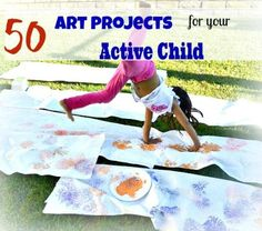 Art activities for kids who love to move. These kids adore art and paint just as much as movement. Unfortunately they cannot stay put at the art table to enjoy (...)