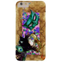 MARDI GRAS MASQUERADE parchment confetti Barely There iPhone 6 Plus Case