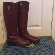 Tory Burch almond Teresa riding boots. Size 8 Gorgeous size 8 Tory Burch almond Teresa riding boot. Tory Burch Shoes