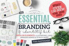 Essential branding kit for Photoshop - Logos