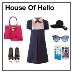 """House Of Hello women genuine leather bags"" by houseofhellohk on Polyvore featuring Valentino, Alice + Olivia, Billabong and Fendi"