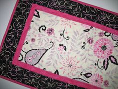 Floral Table Runner  with Paisley accents by PicketFenceFabric, $29.95