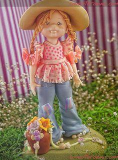 Как слепить фигурку девочки -How to sculpt girl figurine - Мастер-классы по украшению тортов Cake Decorating Tutorials (How To's) Tortas Paso a Paso