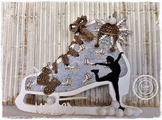Dutch Doobadoo Card Art schaats