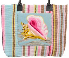 New! Gorgeous! Love! New needlepoint tote from Pischke Pockets
