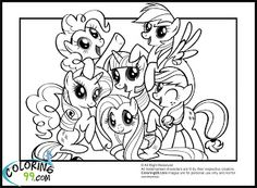 My Little Pony Coloring Pages Princess PagesFree