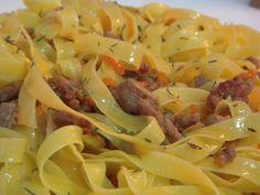Tagliatella con salsa genovesa (Tagliatelle alla genovese) – Recetas italianas, recetas de cocina italiana en espanol