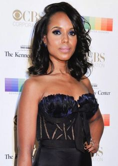Kerry Washington looked elegance personified in a strapless asymmetrical black gown while attending the 2015 Kennedy Center Honors Gala held at the Kennedy Center for the Performing Arts in Washington, D.C. The gala was held on December 6, 2015 and will broadcast on December 29 at 9:00 pm on CBS....
