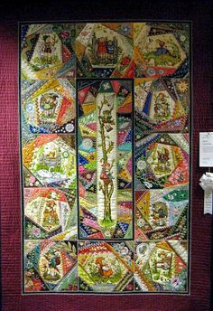 I ❤ crazy quilting & embroidery . . . Stunning Hummel Inspired Quilt- Trends and Traditions, Arizona Quilters Guild Show- Honorable Mention- CQ completely handmade including the piecing, embroidery, embellishments & quilting. ~By Geri Hruzek