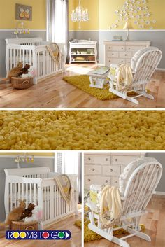 Bring home baby to serene surroundings with the elegant style of the this nursery.  These beautifully crafted pieces work well with most any color scheme.