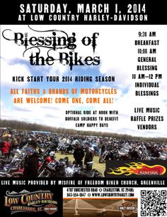 Blessing of the Bikes in Charleston, S.C.