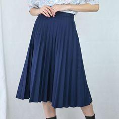 VIN-SKI-04953 Vintage πλισέ φούστα XS-S Waist Skirt, High Waisted Skirt, Vintage Skirt, Skirts, Fashion, Moda, High Waist Skirt, Fashion Styles, Skirt