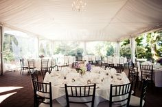 Brock House is one of Vancouver's most lovely and intimate ocean side wedding settings. This tented wedding is by the talented gals at Filosophi Events.