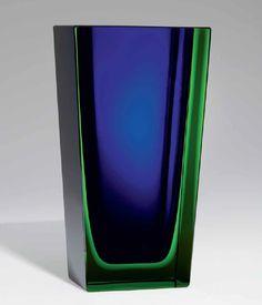 Severin Brørby; Glass Vase for Hadeland Glassverk, 1960.