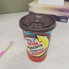 My first roll up the rim this year. Will report on result later. #rolluptherim #timhortons