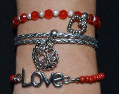 Rood setjes losse armbandjes