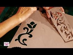 COMO CREAR STENCILS 3D CON RELIEVE. Parte 1/2 - YouTube Stencils, Stencil Diy, Stencil Designs, Decoupage, Resin Crafts, Diy Crafts, Projects For Kids, Diy Projects, Painted Wardrobe