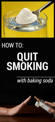 "Smoking is one of the most harmful habits, being the main reason for many health problems. But every smoker knows how harmful smoking is, but once you start ""playing ""this game is very hard to quit. It is not easy to quit smoking, but it's important for your health to do it. And baking soda …"