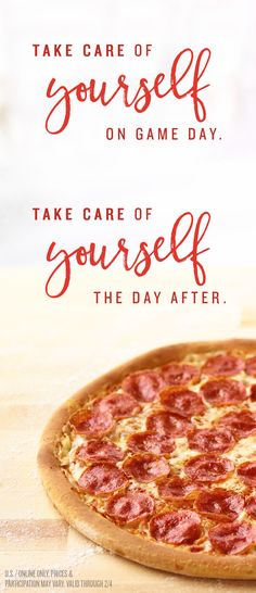 Get pizza now, then get free pizza later. Spend $15 for a free pizza on 2/5.