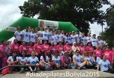 #diadepilatesBolivia2015 El grupo que participó del #pilatesday en #santacruzdelasierra #Bolivia #pilatesmethodalliance