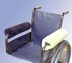 Rollstuhl Armlehnenpolster Polster Lehnen Echtfell