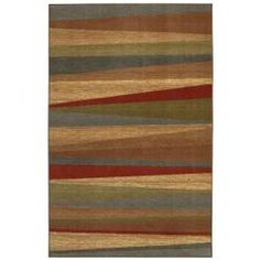 @Overstock - Add an attractive appeal to your living room or family room with this bold striped area rug. With a striated array of earth tones, this floor piece offers durability and the prospect of an easy-to-clean home decor piece that will last for many years.http://www.overstock.com/Home-Garden/New-Wave-Mayan-Sunset-Rug-5-x-8/6668670/product.html?CID=214117 $82.99