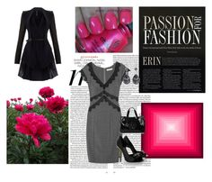 """pink pop"" by kealy-burns-goodale ❤ liked on Polyvore featuring Todd Lynn, PEONY, China Glaze, Rebecca Taylor, Fendi, Armani Jeans and Swarovski Crystallized"