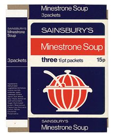 Sainsbury's Minestrone Soup from the 70's