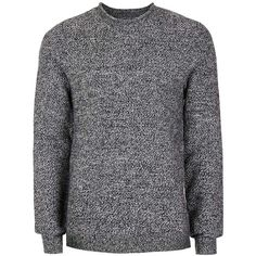 TOPMAN Premium Grey Lambswool Blend Textured Crew Neck Jumper (2.440 RUB) ❤ liked on Polyvore featuring men's fashion, men's clothing, men's sweaters, mid grey, mens lambswool sweater, mens grey sweater, mens crew neck sweaters, mens gray sweater and mens crewneck sweaters