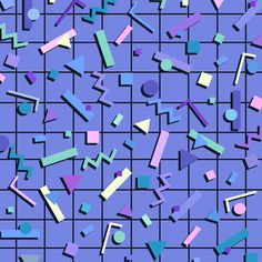 80s inpired pattern by Yoko Honda. Find more backgrounds inside the app!