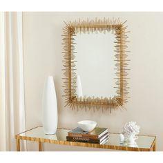 Safavieh Sunray Antique Gold Rectangular Mirror