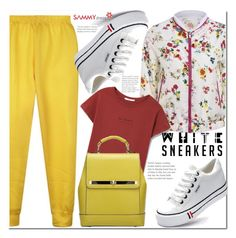 """""""White Sneakers!"""" by ladybug-100 ❤ liked on Polyvore featuring MANGO"""