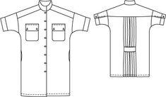 Oversized Shirt Dress 02/2015 #115 – Sewing Patterns | BurdaStyle.com