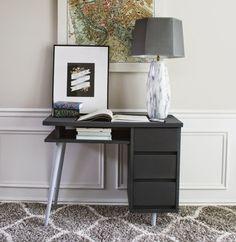 Mid-Century Modern Desk Makeover #chalkyfinish #decoartprojects