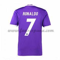 Camisetas De Futbol Real Madrid Ronaldo 7 Segunda Equipación 2016-17 La  Liga e25f9da40caef